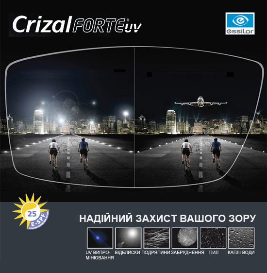 Essilor 1.61 ORMIX Transitions VII Crizal Forte